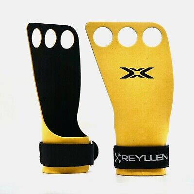 Reyllen™ Pull-Up Gymnastic Grips Hand Guard Protector Gloves CrossFit WOD Bar UK