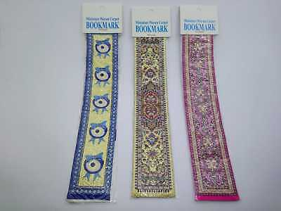 Set of 6 (Five) Turkish Greece Kilim Carpet Rug Design Woven Bookmarks