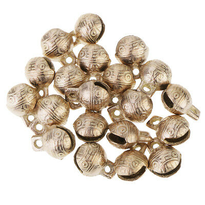 20 Pieces Vintage Style Tiny Bells Craft Decorative Chinese Style 1.4 cm