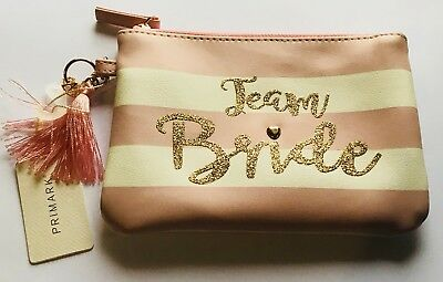 Primark Team Bride Wedding Small Make Up / Cosmetic / Toiletries Purse Bag - Bn