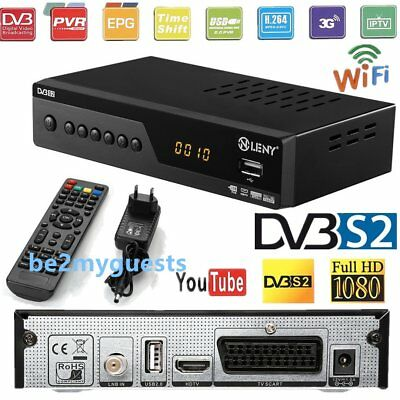1080p HD Digital Sat Receiver DVB-S2 IPTV IKS TV MPEG4 Display USB 2.0 3G Wifi A