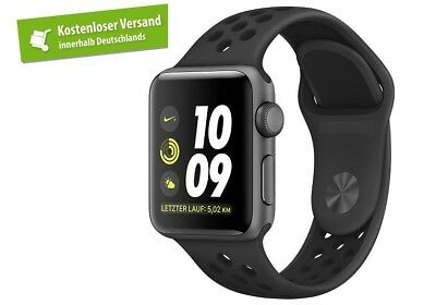Nike Apple Watch 42mm Sportarmband ANTHRAZIT / SCHWARZ (für ALLE Watch-Modelle)