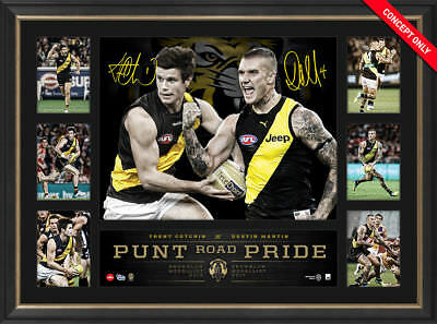 Dustin Martin & Trent Cotchin Richmond Dual Signed Brownlow Tribute Print Framed