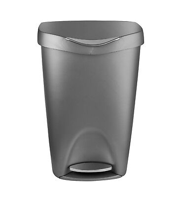 Bon Large Kitchen Trash Can Stylish Stainless Steel Foot Pedal Garbage Bin With  Lid