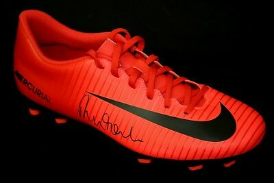 Robbie Fowler Liverpool Hand Signed Red Nike Football Boot  : New