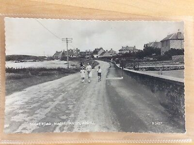 Old Vintage Rp Postcard Shore Road Machrihanish Argyll Argyllshire