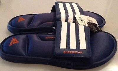 472caee759f215 ... 50% off adidas superstar 5g mens slides sandals navy sizes uk 12 uk 13  e5a79