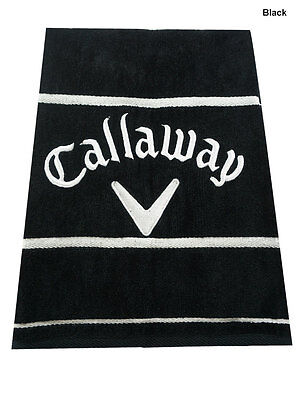 "Callaway Golf Deluxe Towel Black 20"" x 30"" 100% Cotton NEW!"