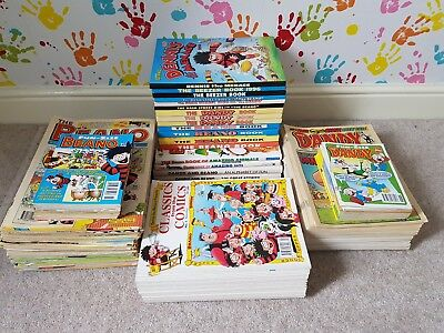 beano dandy beezer collectors bundle 90s uk lots of comics and annuals MUST SEE