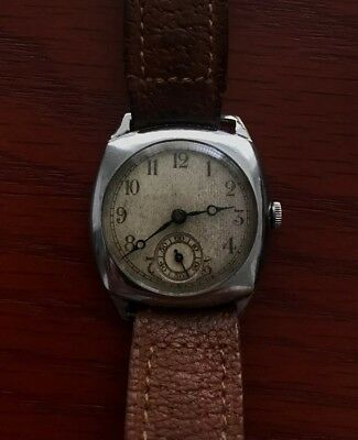 Vintage fully working trench watch Swiss made mechanical