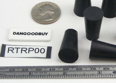 "6  Rubber Stoppers - Laboratory Stoppers - Tapered Plugs- Size 00 ""Corks"""