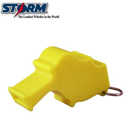 STORM Worlds Loudest SAFETY Whistle Neon Yellow with Stainless Steel Split Ring
