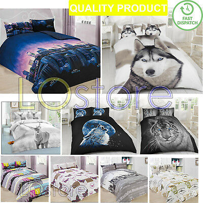 Duvet Bed Cover with Pillow Case Quilt Covers Bedding Decoration Set Xmas Gift