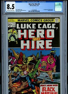 Hero for Hire #5 (Jan 1973, Marvel) CGC 8.5 FIRST APPEARANCE OF BLACK MARIAH