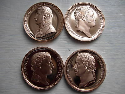 Set Of 4 Battle Of Waterloo Mint Condition Coin Set