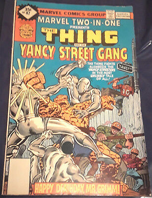 Marvel Comicbook-Two-In-One-The Thing And The Yancy Street Gang-#47-Year-1978