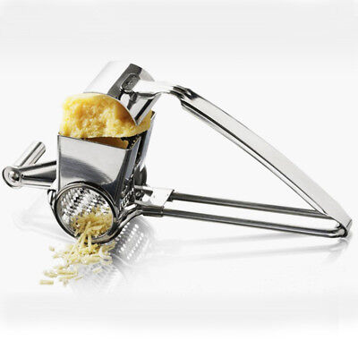 Hand Held Rotary Cheese & Vegetable Grater Cutter Slicer, Stainless Steel