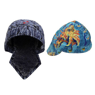 2pc Protective Flame Retardant Hood Hat Cap Scarf Set Welding Safety Cover