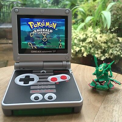 Game Boy Advance SP : AGS 101 : Back-lit LCD : NES theme : Refurbished