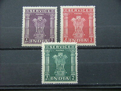 India 1950 Official High Values SGO161-163 MM