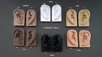 Soft Pair of Ear Display Models for Jewelry, Audio Music Recording, Drawing etc