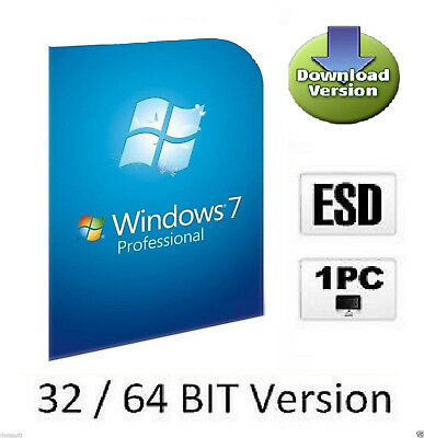 OEM Windows 7 Professional  Multilanguage Aktivierungs-Schlüssel für 32/64 Bit