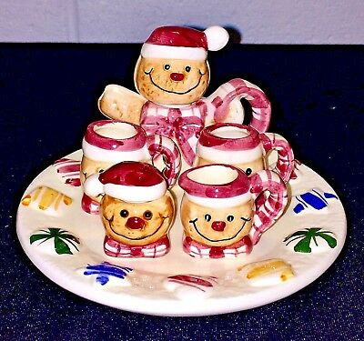 Collectibles Hand Painted Ceramic Holiday Mini Tea Set