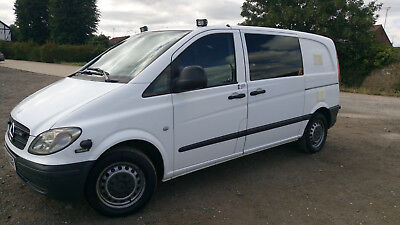 08 MERCEDES VITO 115 Cdi Ex-Police Dog Security Van 4 Cages Cctv Fully  Equipped