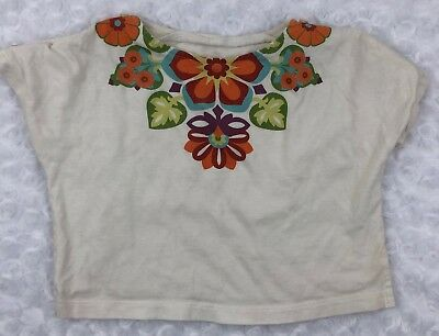 Girls Tea Collection Floral Graphic Shirt Top Size 3