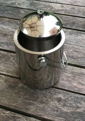Stainless Steel Silver Metal ice cube Bucket.