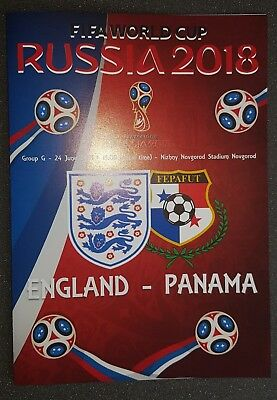 WORLD CUP 2018 ~ ENGLAND v PANAMA ~ 24th JUNE 2018 ~ UNOFFICIAL PROGRAMME
