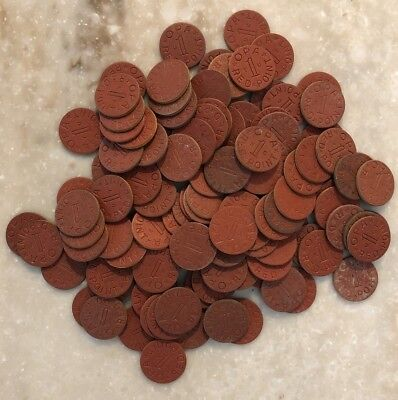 Lot of 125 Vintage WW2  Food Ration Tokens OPA