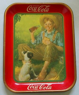 "Near Mint 1931 Coca Cola Advertising Tray, Not Tip, ""the Rockwell"" Tray Realnice"