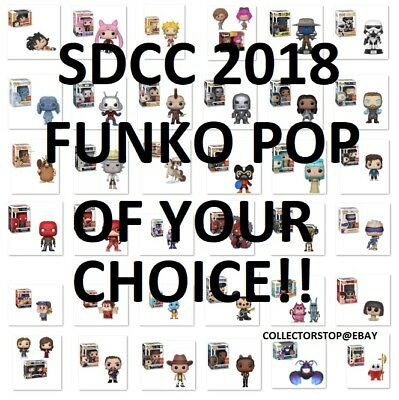 Funko Pop! SDCC 2018 of Your Choice! Summer Convention Shared Exclusive PreSell
