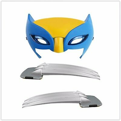 Wolverine Long Claws And Mask Anime Cosplay Weapons Action Figure Toy For Kids