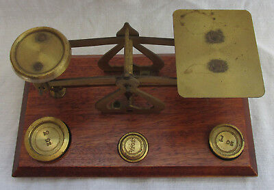 Antique Vintage Old Goldsmith Jeweller Libra Balance Beam Scale Made In England