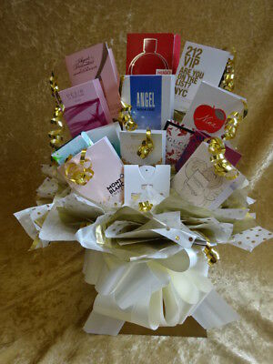 Sweet & Flower Style Perfumes Bouquet Vial Samples Gift Bows Hamper Box Anyone