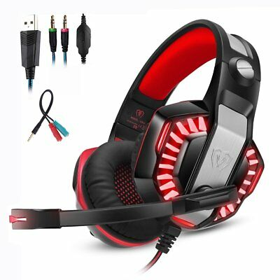 Mengshen Cuffie Gaming per Xbox One PS4 PC, Cuffie con Microfono Audio (d3z)