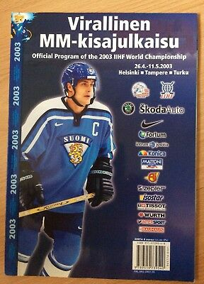 Ice hockey World championship  2003 official programme