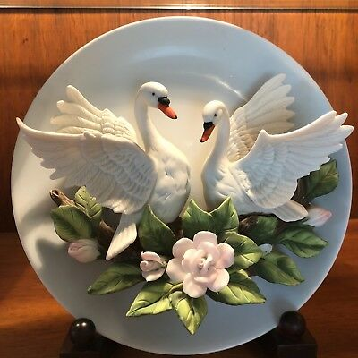 Swans Plate, Seymour Mann Connoisseur Collection By Mario Bernini, #3223