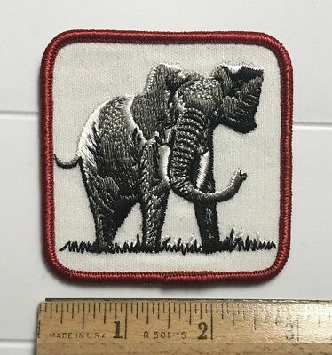 African Elephant Animal Souvenir Embroidered Patch