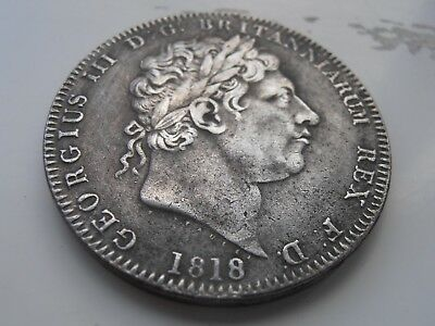 1818 Rare George 111 Silver Plated Crown Coin Fantasy