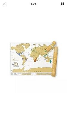 Scratch Map Original Personalised World Map Poster, Travel Gift - Luckies of Lon