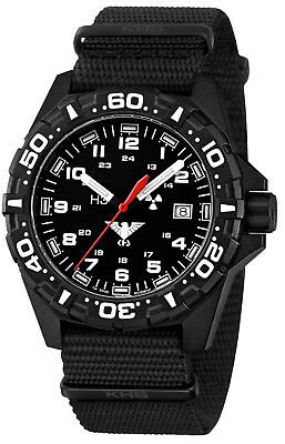 KHS Tactical Watches Red H3 Lighted Date Rotating Bezel Swiss Movement KHS.RE.NB