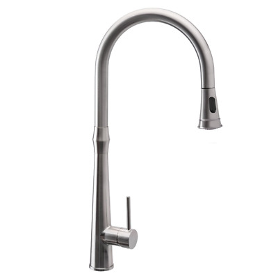 Kitchen Sink Faucets with Pull Down Sprayer Single Handle Brushed Nickel NEW HOT