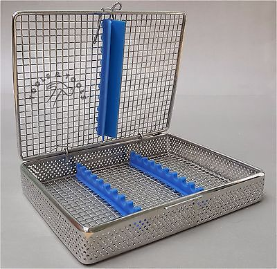 Perforated Mesh Sterilisation Cassette Rack Tray 10 Dental Instruments Autoclave