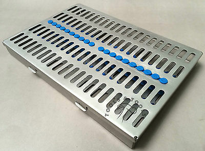 Quality Sterilization Cassette Rack Tray Hold 20 Dental Instruments Autoclave Ce