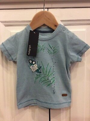 Baby 0-3 Months NEW With Tags Grasshopper Motif T-shirt M&S Autograph