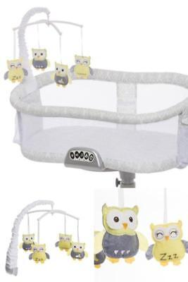 Sleepy Owl Baby New Born Swivel Sleeper Bassinet Mobile For Bed Crib Cradle NEW