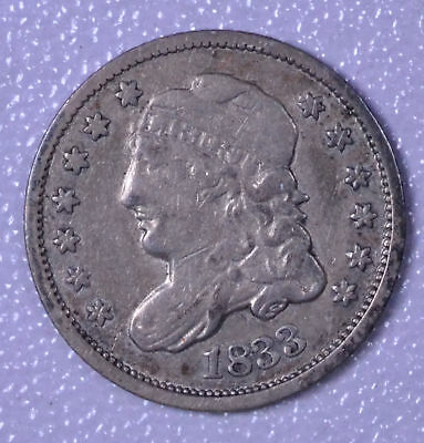 1833 H10C Capped Bust Half Dime - F Cleaned